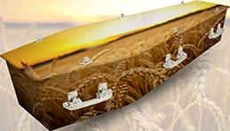 Example of custom coffin design - Nature.