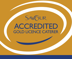 Savour gold certified caterer