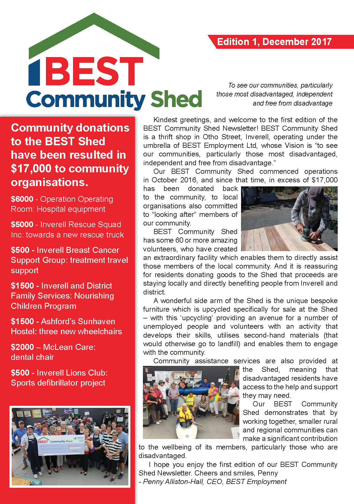 BCS Newsletter Edition 1, December 2017