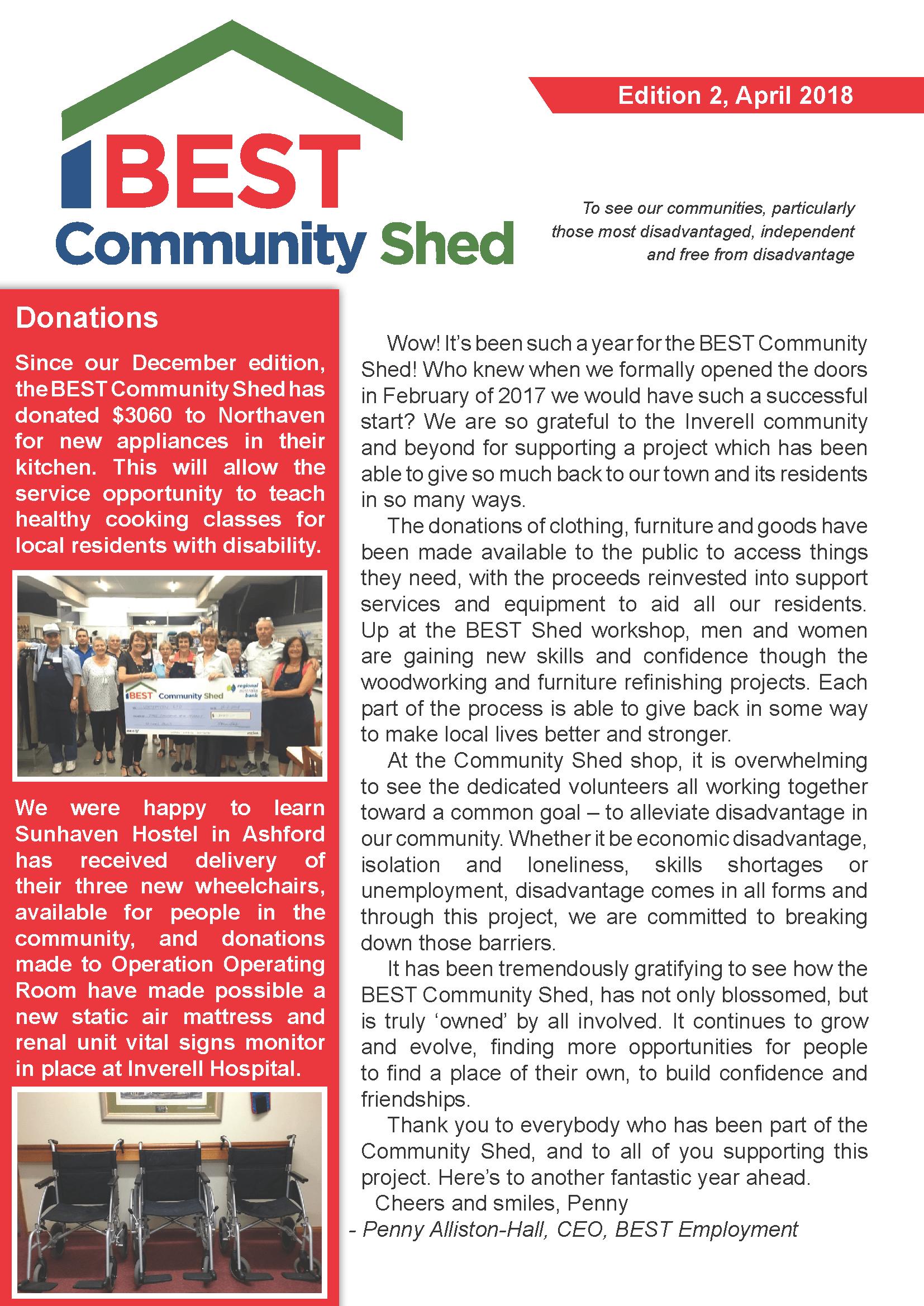 BCS Newsletter Edition 2, April 2018