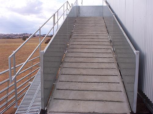 Full Concrete Entry Ramp