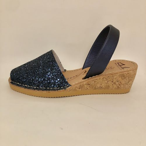 AVARCAS WEDGE NAVY GLITTER