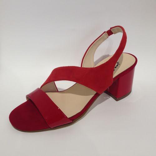 Vago Leondra Red Patent Suede Heel