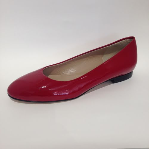 Amber Rossi Red Patent Flats