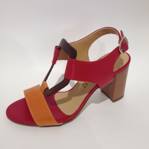 Vago Luxor Orange Red Multi Sandal