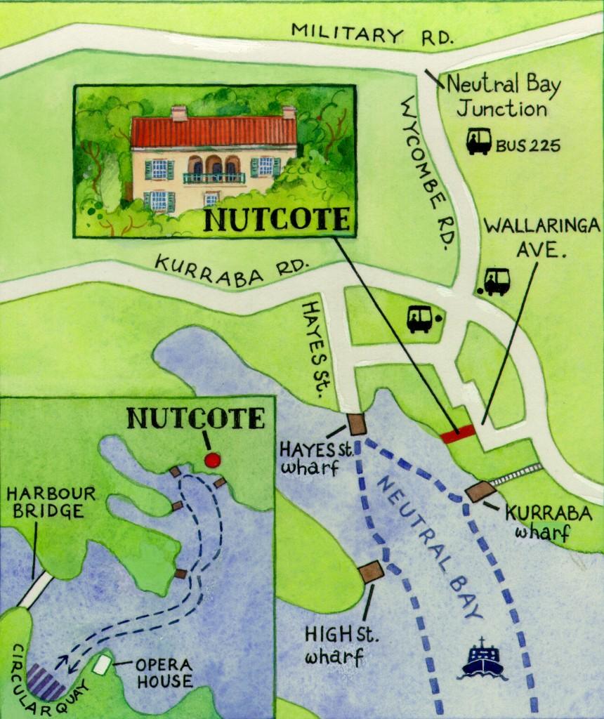 Nutcote Map