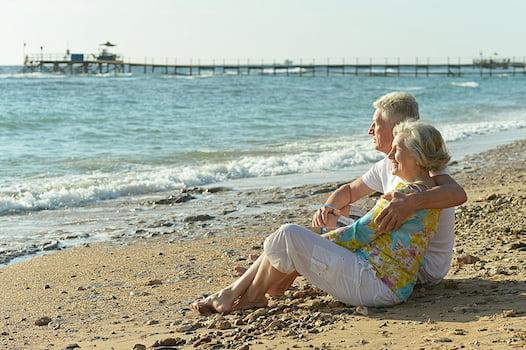 Older Couple on a beach