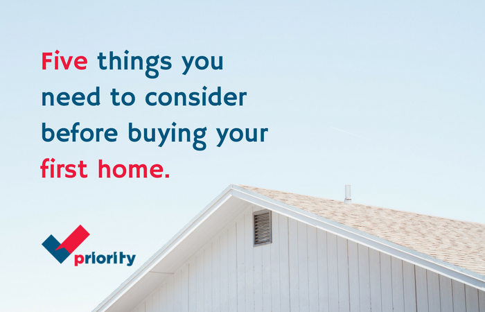 Five Things You Need To Consider Before Buying Your First Home