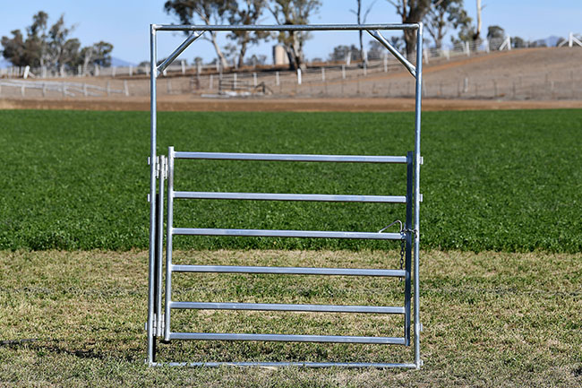 Bronco Double Hinged Gate and Frame